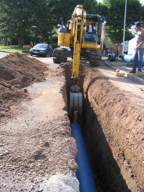 natural cast iron pipe installation