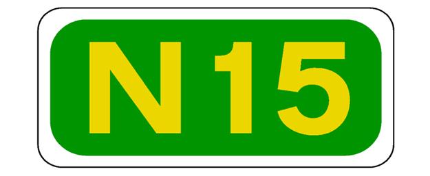 n15 road sign
